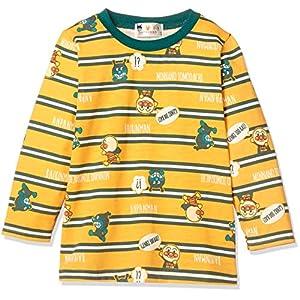 [ナカタ] アンパンマン ボーダー総柄長袖Tシャツ 長袖Tシャツシリーズ ボーイズ イエロー 日本 100㎝ (日本サイズ100 相当)