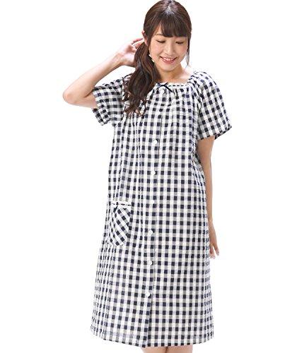 72386 Nishiki(ニシキ) ネグリジェ レディース 半袖 前開き 綿100% ガーゼ 夏 吸汗速乾 女性用 ルームワン...