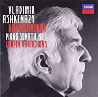Rachmaninov: Piano Sonata No.1 / Chopin Variations by Vladimir Ashkenazy (2012-01-10)