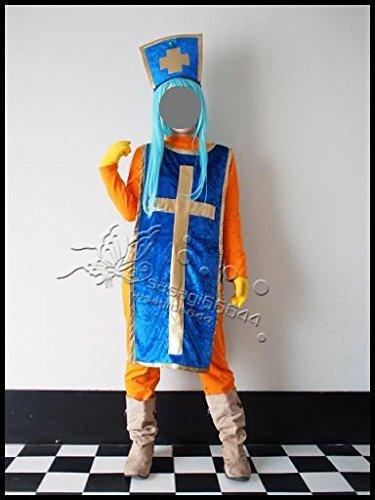 ★ドラゴンクエストⅢ ドラクエ3 DQ3 女 僧侶★キング コスプレ衣装 + ウィッグ オーダー自由 ディズニークリスマス、ハロウィン イベント仮装  コスチューム