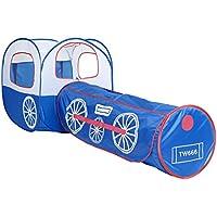 Hannahフィット子供2 pc Play Tent and Trainトンネルジャングル、インドア&アウトドア子Pop Upテント