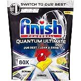 Finish Quantum Ultimate Pro Dishwashing Tablets 80 Pack (Lemon Sparkle)