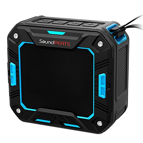 SoundPEATS 【メーカー直販/1年保証付】 Bluetoothスピーカー 防水仕様 耐衝撃 ポータブルスピーカー マイク搭載通話可能 10時間連続再生 P2 (ブルー)