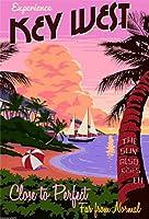 キーウェストフロリダアメリカ旅行広告ポスター 10x13.5 [並行輸入品]