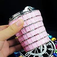 車の灰皿 簡単なクリーニング 携帯灰皿 Led付き車用 灰皿 (Pink)