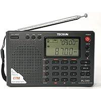 充電池3本贈呈 PL-380 TECSUN ブラック DSP 短波ラジオ 英語表記パネル 日本語版説明書付属