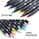 トンボ鉛筆 筆ペン デュアルブラッシュペン ABT パステル 10本セット AB-T10CPA 画像