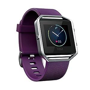 Fitbit フィットビット スマートフィットネスウォッチ Blaze 心拍 睡眠 アプリ通知 健康管理 活動量計 アクティブトラッカー スマートウォッチ Plum プラム Sサイズ 【日本正規品】 FB502SPMS-JPN