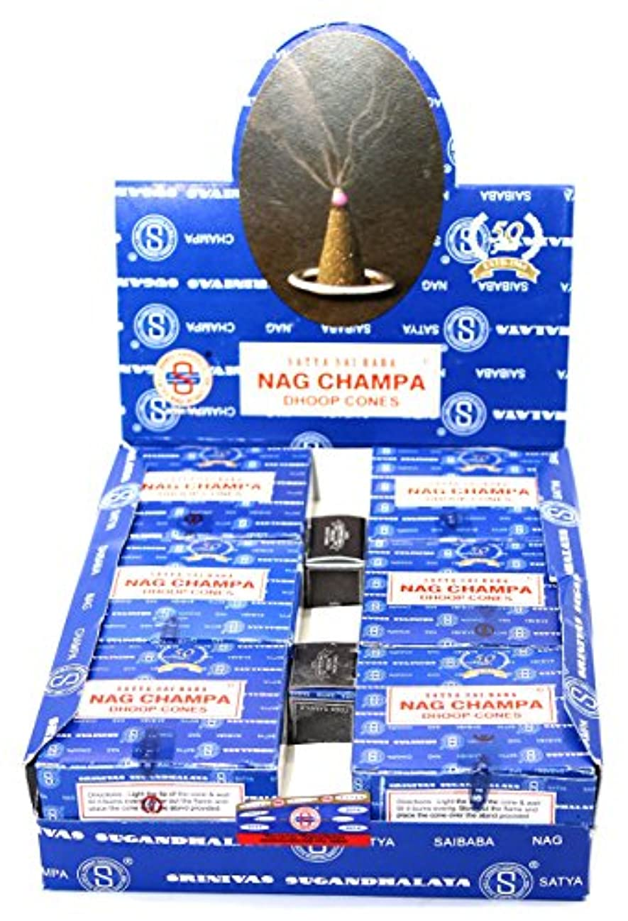 Shrinivas Sugandhalaya Satya Sai Baba Nag Champa Incense Dhoop Cones, 144 Cones by Shrinivas Sugandhalaya