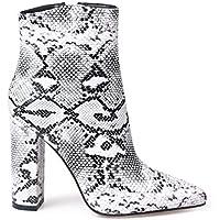 wetkiss Women's Mules Clogs Shoes Snakeskin Sandals for Women Spike high Heel Slides Sandal