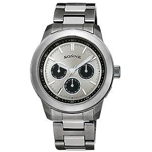 SONNE (ゾンネ) 腕時計 マルチファンクション シルバー S129 メンズ
