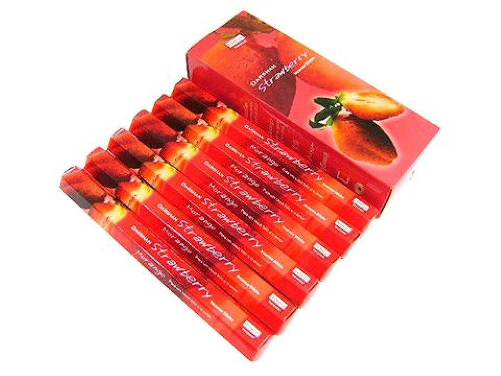 シエスタ貝殻書店DARSHAN(ダルシャン) ストロベリー香 スティック STRAWBERRY 6箱セット