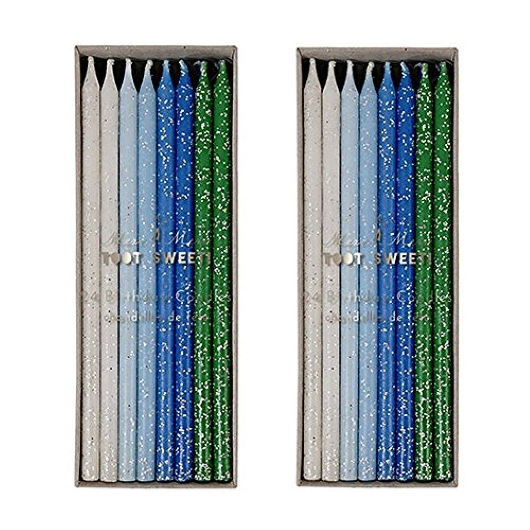 抑制するゴミルビーMeri Meri Birthday Candles 2つpack-48キャンドル ブルー