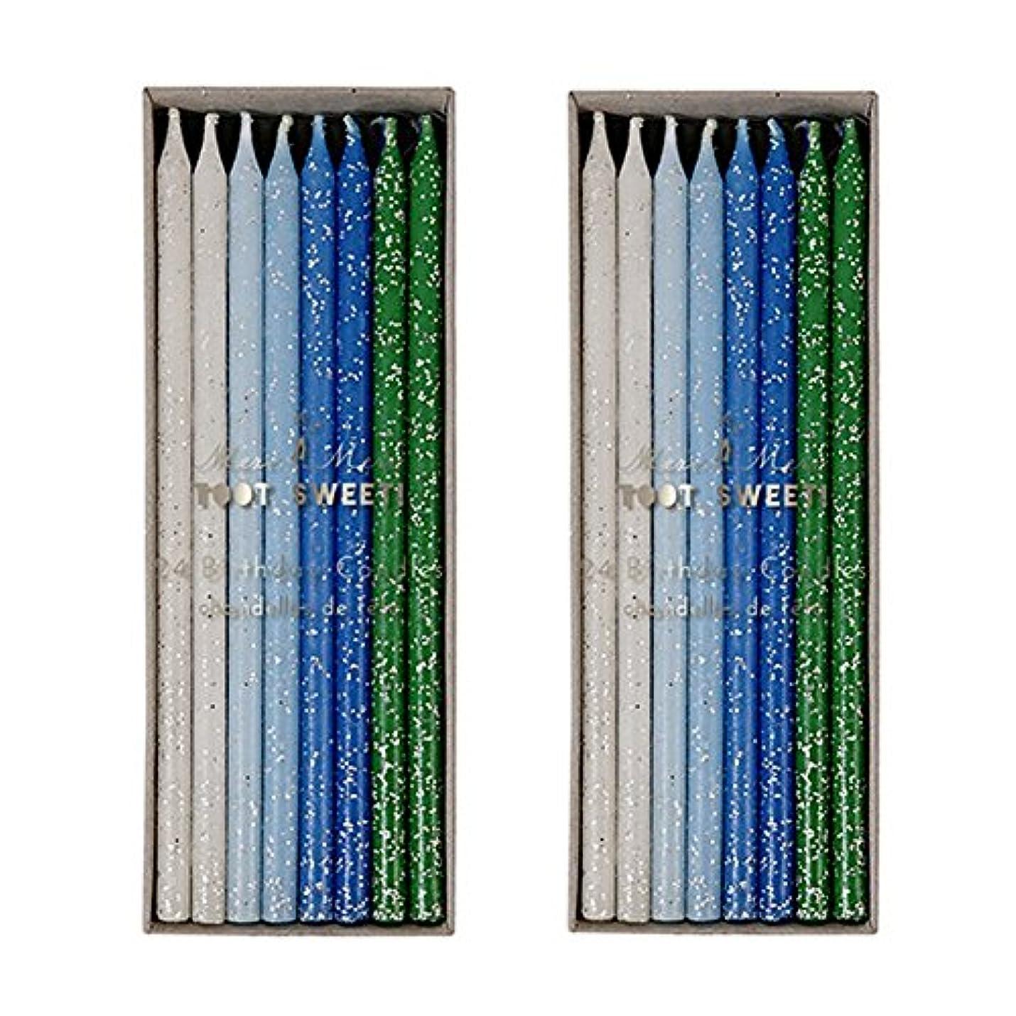 差別フィクションガジュマルMeri Meri Birthday Candles 2つpack-48キャンドル ブルー