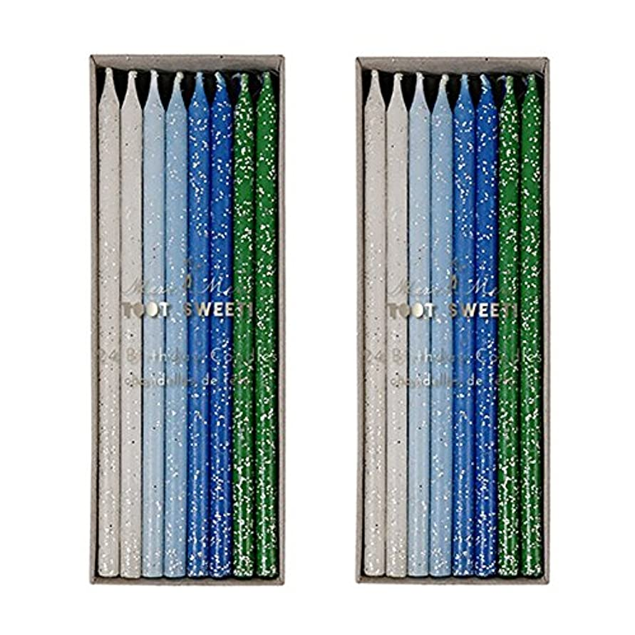 審判バケットスクリーチMeri Meri Birthday Candles 2つpack-48キャンドル ブルー