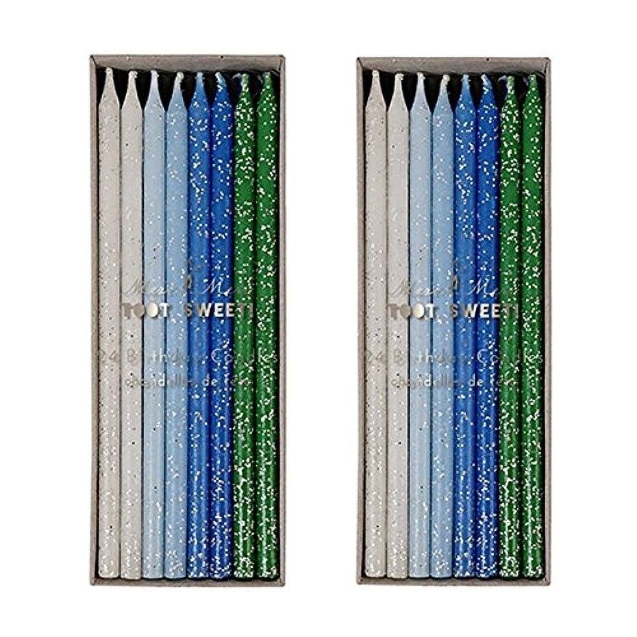 説教その間予想外Meri Meri Birthday Candles 2つpack-48キャンドル ブルー