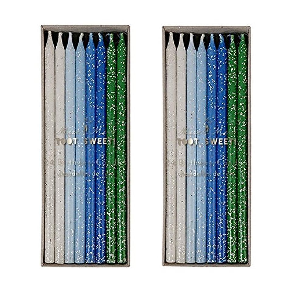 検索エンジン最適化広々地味なMeri Meri Birthday Candles 2つpack-48キャンドル ブルー