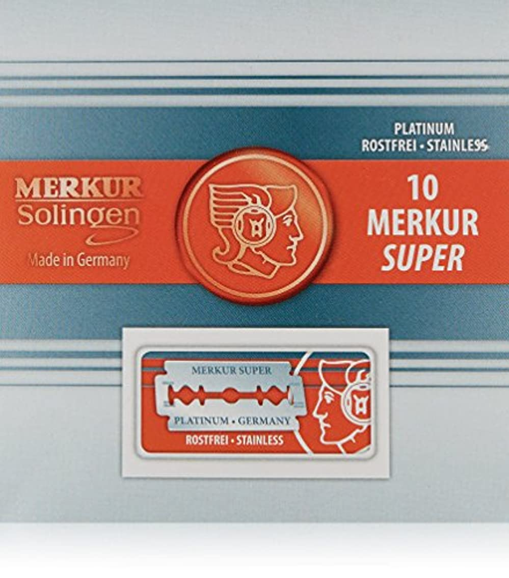 シエスタハーフ最悪Merkur Stainless Platinum Safety Razor Blades 10 Pack