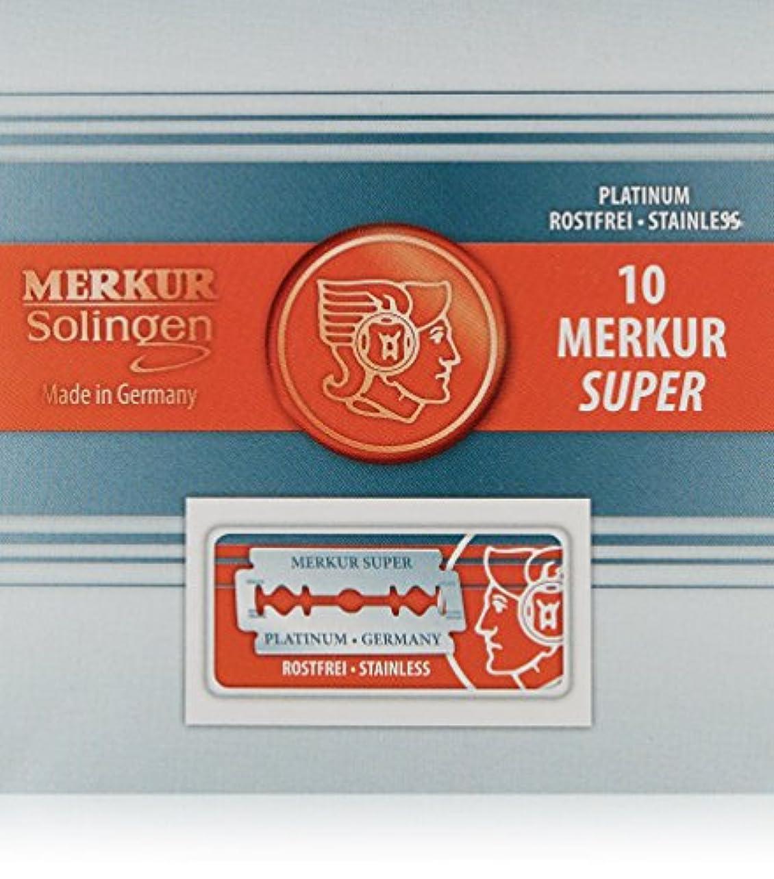 トレード試してみる人種Merkur Stainless Platinum Safety Razor Blades 10 Pack