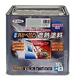 水性外かべ凹凸遮熱塗料 ソフトグレー 10L 1セット/3点 【3点】