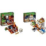 レゴ(LEGO) マインクラフト 闇のポータル 21143 & レゴ(LEGO)マインクラフト ドクロ・アリーナ 21145【セット買い】