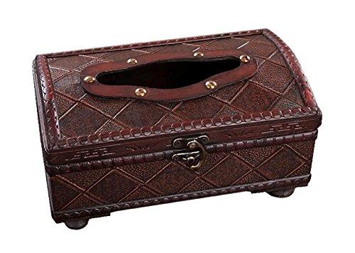 アンティーク調 木製 ティッシュ ボックス インテリア レトロ ビンテージ風 ブラウン