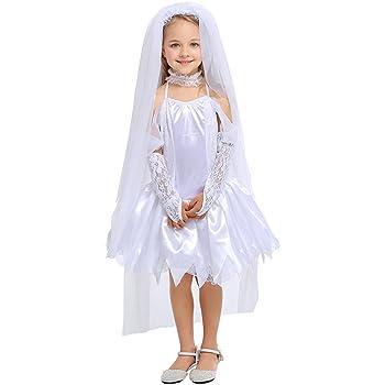 8d6da8a62b9ba Kokoya ハロウィン 衣装 ウエディング ドレス ホラー ゾンビ 花嫁 天使 キッズコスチューム コスプレ 子供 女の子 女児 仮装
