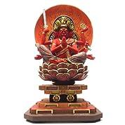 楠製 彩色馬頭観音 坐像 55cm 【木彫り 仏像】