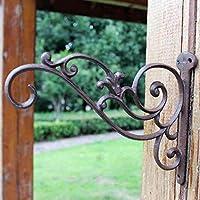 KTYX ヨーロッパの鍛造鉄ノスタルジックな庭にぶら下がる青い壁掛け コートハンガー