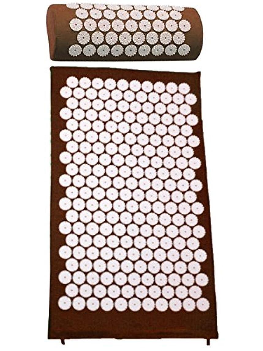 サイレント地下室お茶purefit(ピュアフィット) スパイスセット マット?ピロー PF430 (ブラウン)