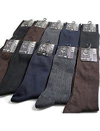 【足の大きい方専用サイズ】 靴下 メンズ ソックス / 仕事用にもオフ用にも大活躍のリブソックス 15足セット 【27-29cm対応】