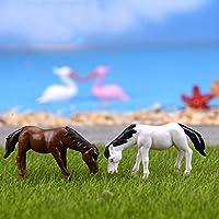 Lovoski マイクロ風景置物 小馬 ミニチュア 10個入り 箱庭用 樹脂製  DIY インテリア