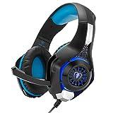 Beexcellent GM2 ゲーミング ヘッドセット マイク、音量調節機能付き、高音質 ステレオ ヘッドホン (PS4 Xbox One パソコン スマホ など対応) 1年間保障付