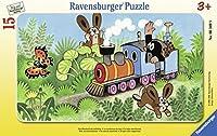 Ravensburger Puzzle. Der Maulwurf als Lokführer: Rahmenpuzzle. 15 Teile