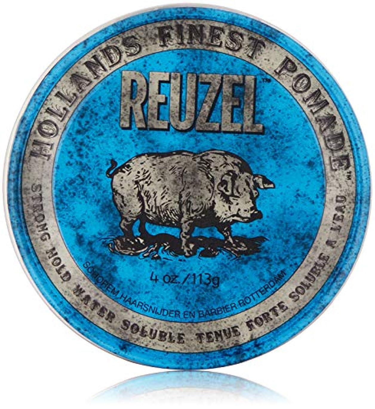 暗記する重量閃光Reuzel Blue Strong Hold High Sheen Pomade by Reuzel