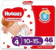 Huggies Essentials Nappies Size 4 (10-15kg) 46 Count
