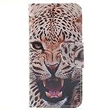 iPhone 6 / iPhone 6s ケース, UNEXTATI 手帳型ケース, Apple iPhone6 / iPhone6s ケース カバー, 高品質 PUレザー 手帳型 ウォレット型 財布型 保護カバー カード収納 スタンド機能 マグネット式 (P14 動物)