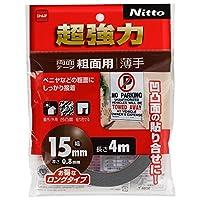 ニトムズ 超強力両面テープ 粗面用(薄手) 15mm×4M T4602