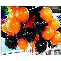 J-LAVIE ハロウィン 風船 ゴム風船 100枚パック 無地 2色 アソート パーティー 飾り付け