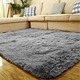 ACTCUT Super Soft Indoor Modern Shag Area Silky Smooth Fur Rugs Fluffy Rugs Anti-Skid Shaggy Area Rug Dining Room Home Bedroo