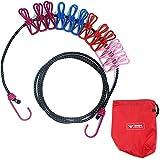 LIFEPOWER 物干しロープ 洗濯ロープ アウトドア クリップ12個付き ランドリーロープ 旅行 出張 アウトドア キャンプなどに オリジナルポーチ付き LF-SEL12SET