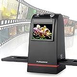フィルムスキャナー 高解像度2400dpi900万画素 昔から撮ったフィルムに眠っている写真をキレイに蘇るネガスキャナー USB接続 黒/ブラック