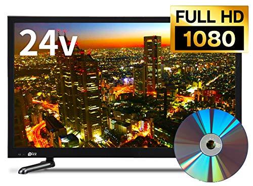 bizz 24V型DVDプレーヤー内蔵デジタルフルハイビジョンLED液晶テレビ B07592VQCW 1枚目