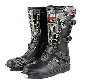 クロスカントリーブーツ レーシングブーツ/バイク用レーシングブーツ バイク用靴/バイク用ブーツ 43(26.5-27cm約)ブラック