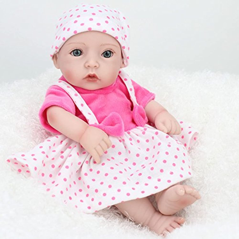 Nicery 生まれ変わった赤ちゃん人形おもちゃハードシミュレーションシリコンビニール11インチ28cm防水おもちゃとギフト Reborn Baby Doll RD28A014G