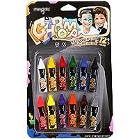 12色非毒性Faceペイントクレヨンボディカラー図面Sticks Washable消去可能顔料 one size MR-hzb-01932-01S