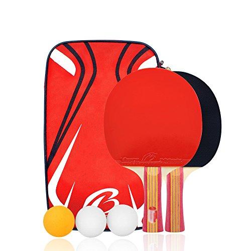卓球 ラケット ラケット2本 ピンポン球3個 卓球ネット 収納袋付き ボール 手軽 卓球用品 子供用 新入生応援セット 初心者向け シェークハンド
