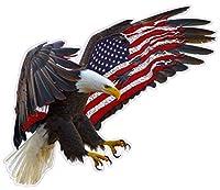 Nostalgia Decals Super Store アメリカンイーグル アメリカ国旗 2.0 X L 24インチ ウォールデコデカール アメリカ製