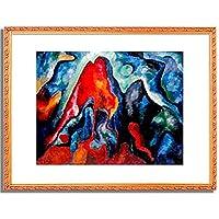ウィヘルム・モーグナー Morgner, Wilhelm「Great astral Composition II. 1913」インテリア アート 絵画 プリント 額装作品 フレーム:装飾(白) サイズ:L (412mm X 527mm)