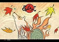 大神伝 ~小さき太陽~ アマテラス 秋 横長タペストリー 約80x110cm 布製ポスター [並行輸入品]